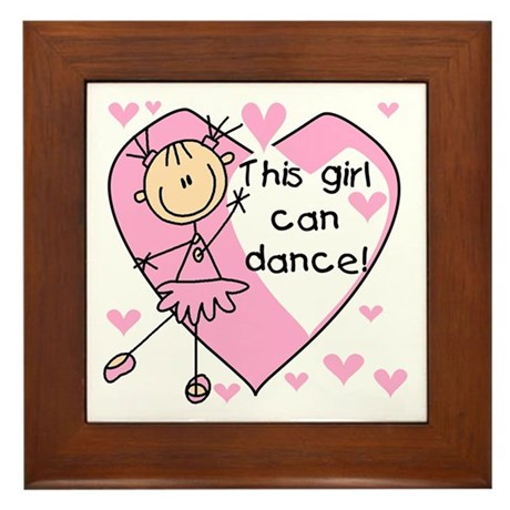 This Girl Can Dance Framed Tile