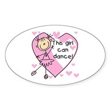 This Girl Can Dance Oval Bumper Stickers
