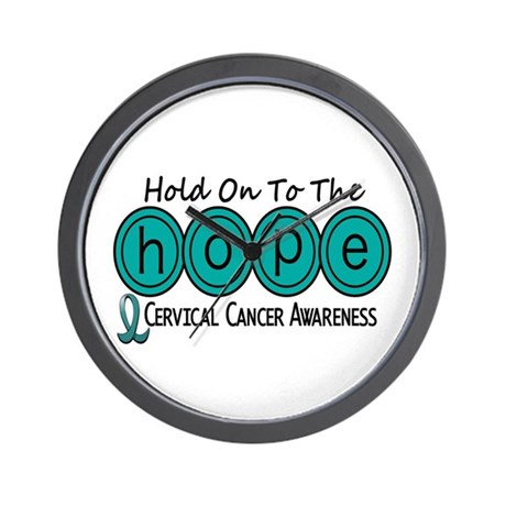 HOPE Cervical Cancer 6 Wall Clock