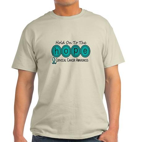HOPE Cervical Cancer 6 Light T-Shirt