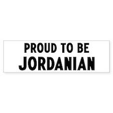 Proud to be Jordanian Bumper Bumper Sticker