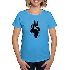 africa darfur peace hand vintage Tee