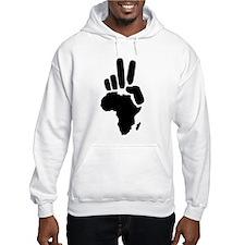 africa darfur peace hand vintage Hoodie