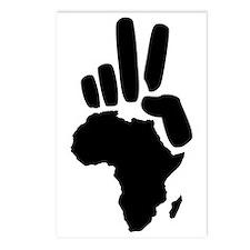 africa darfur peace hand vintage Postcards (Packag