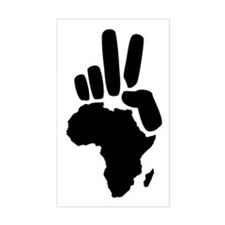 africa darfur peace hand vintage Decal
