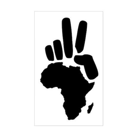africa darfur peace hand vintage Sticker (Rectangl