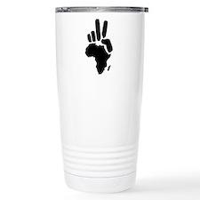 africa darfur peace hand vintage Travel Mug