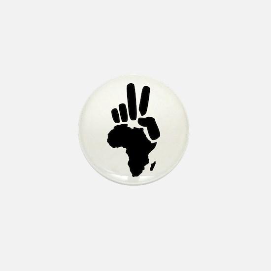 africa darfur peace hand vintage Mini Button