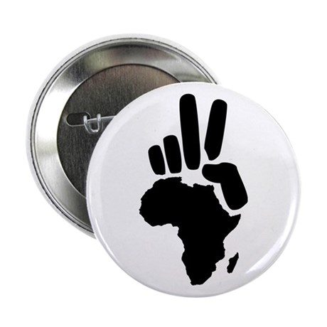 "africa darfur peace hand vintage 2.25"" Button"