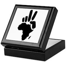 africa darfur peace hand vintage Keepsake Box