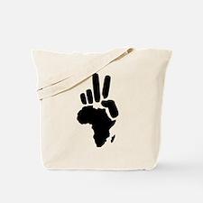 africa darfur peace hand vintage Tote Bag