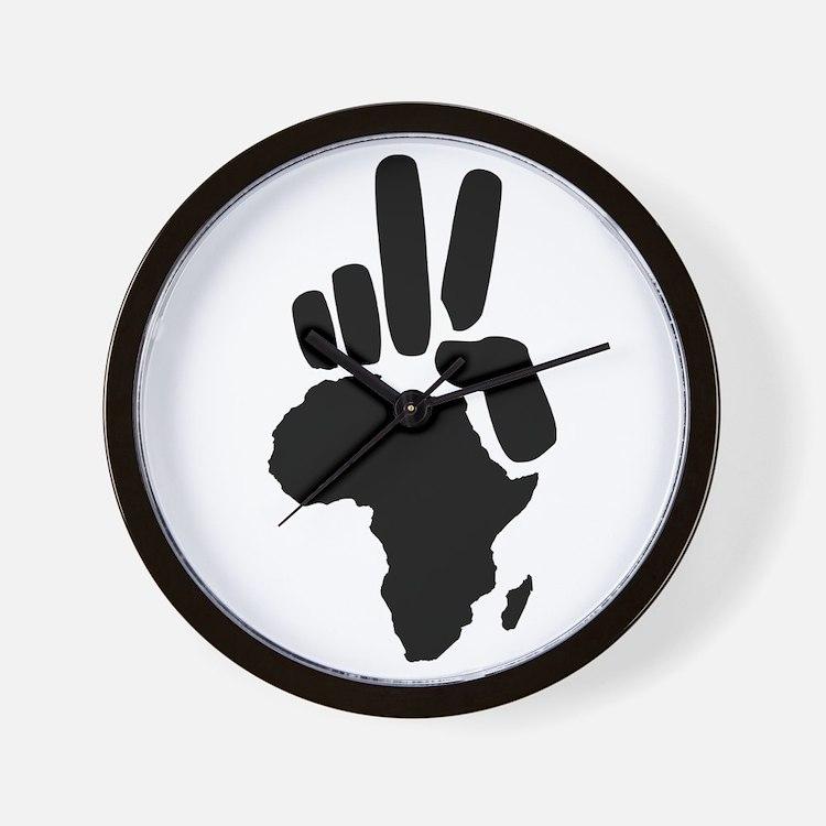 africa darfur peace hand vintage Wall Clock