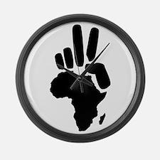 africa darfur peace hand vintage Large Wall Clock