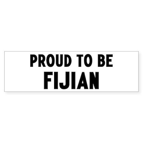 Proud to be Fijian Bumper Sticker