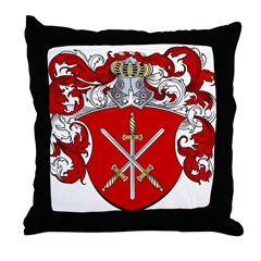 Van Den Broeck Coat of Arms Throw Pillow