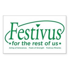 festivus for the rest of us Rectangle Decal