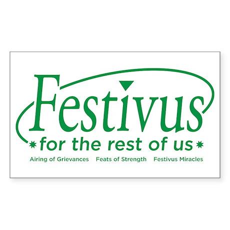 festivus for the rest of us Rectangle Sticker