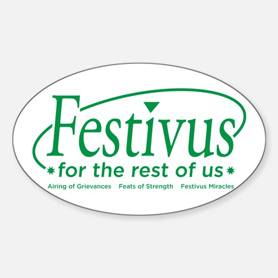 FESTIVUS FOR THE REST OF US™ Oval Decal