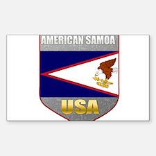 American Samoa USA Crest Rectangle Decal