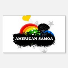 Sweet Fruity American Samoa Rectangle Decal