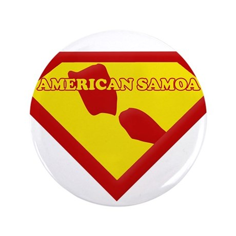 """Super Star American Samoa 3.5"""" Button"""