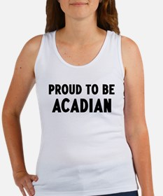 Proud to be Acadian Women's Tank Top
