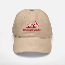 bacon is meat candy Baseball Baseball Cap