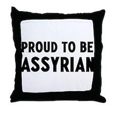 Proud to be Assyrian Throw Pillow