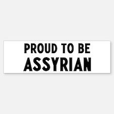 Proud to be Assyrian Bumper Sticker (50 pk)