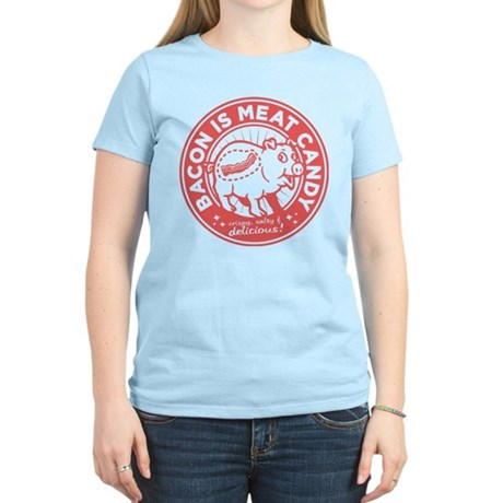bacon is meat candy Women's Light T-Shirt