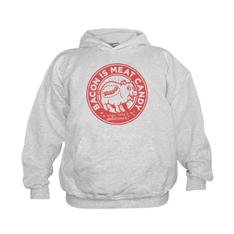 bacon is meat candy Kids Hoodie