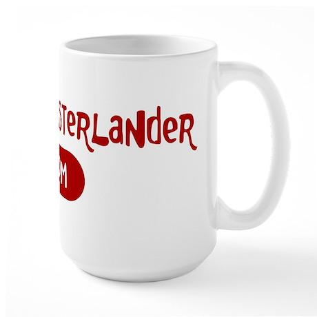 Small Munsterlander mom Large Mug
