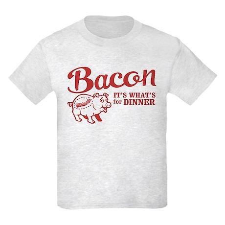 bacon it's what's for dinner Kids Light T-Shirt