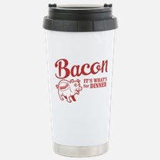 bacon it's what's for dinner Stainless Steel Trave