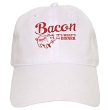 bacon it's what's for dinner Baseball Cap