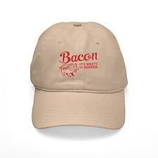 bacon it's what's for dinner Baseball Baseball Cap