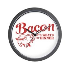 bacon it's what's for dinner Wall Clock