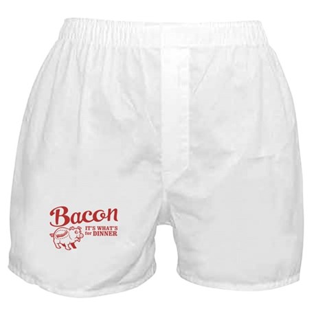 bacon it's what's for dinner Boxer Shorts