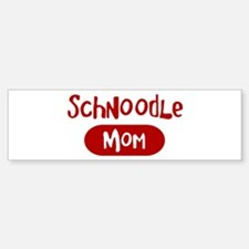 Schnoodle mom Bumper Bumper Bumper Sticker