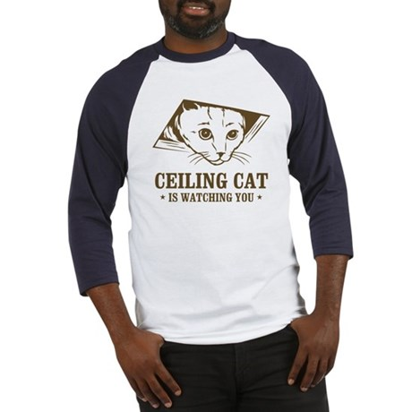ceiling cat is watching you Baseball Jersey