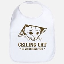 ceiling cat is watching you Bib
