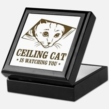 ceiling cat is watching you Keepsake Box