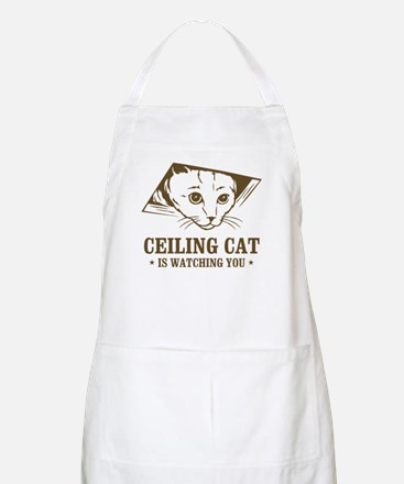 ceiling cat is watching you BBQ Apron