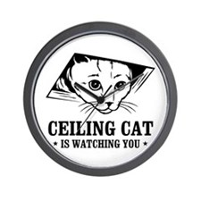 ceiling cat is watching you Wall Clock