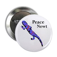 Peace Newt Buttons (100 pack)
