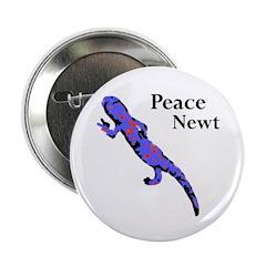 Peace Newt Metal Pinback Button