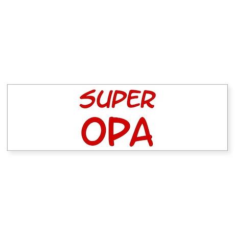 Super Opa Bumper Sticker
