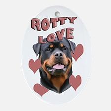 Rottweiler Love Oval Ornament