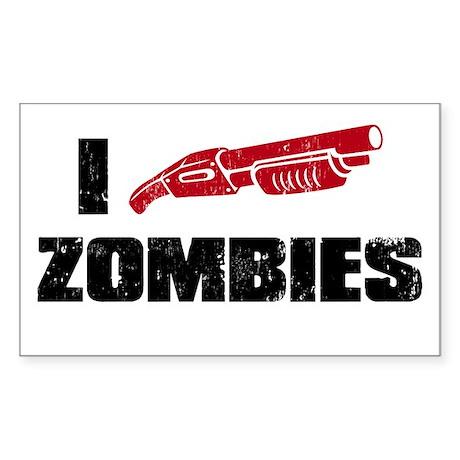 i shotgun zombies Rectangle Sticker