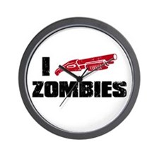 i shotgun zombies Wall Clock